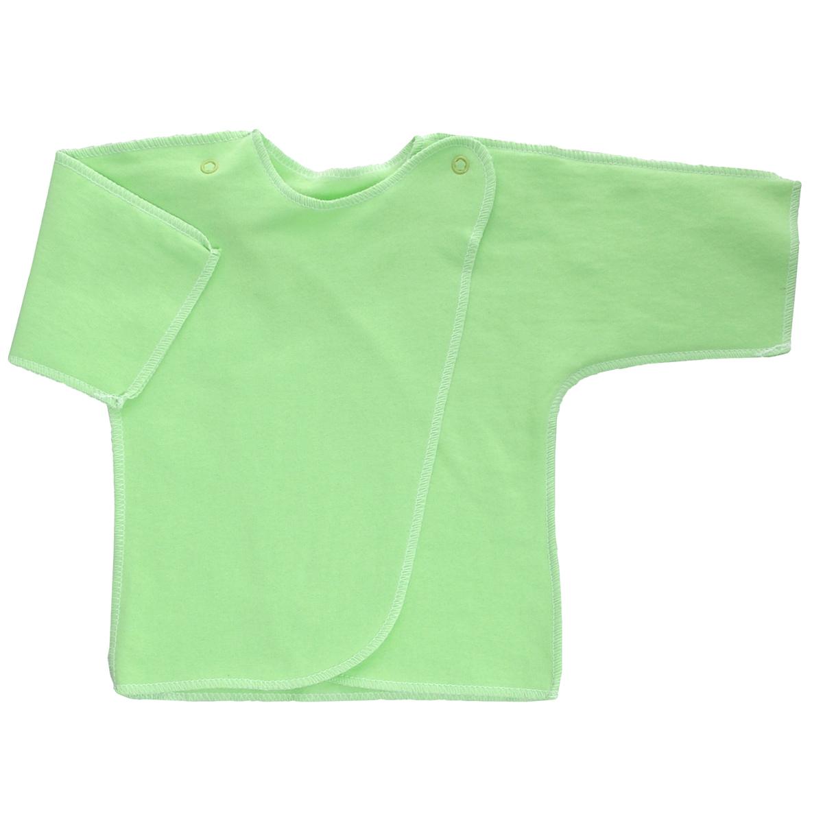 5022Распашонка Трон-плюс послужит идеальным дополнением к гардеробу младенца. Распашонка с рукавами-кимоно, выполненная швами наружу, изготовлена из футера - натурального хлопка, благодаря чему она необычайно мягкая и легкая, не раздражает нежную кожу ребенка и хорошо вентилируется, а эластичные швы приятны телу малыша и не препятствуют его движениям. Распашонка с запахом, застегивается при помощи двух кнопок на плечах, которые позволяют без труда переодеть ребенка. Распашонка полностью соответствует особенностям жизни ребенка в ранний период, не стесняя и не ограничивая его в движениях.