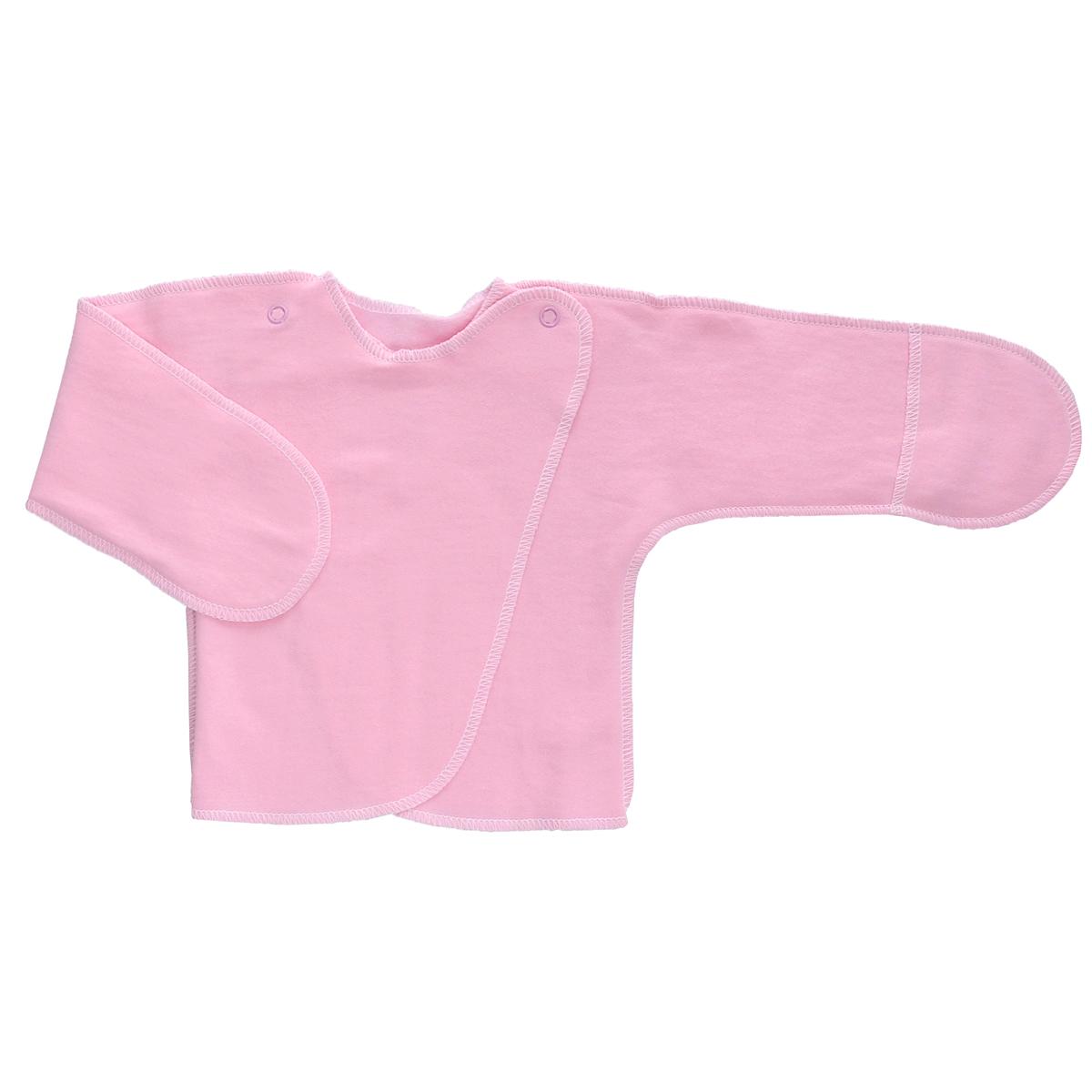 5023Распашонка с закрытыми ручками Трон-плюс послужит идеальным дополнением к гардеробу младенца. Распашонка, выполненная швами наружу, изготовлена из футера - натурального хлопка, благодаря чему она необычайно мягкая, легкая и теплая, не раздражает нежную кожу ребенка и хорошо вентилируется, а эластичные швы приятны телу младенца и не препятствуют его движениям. Распашонка с запахом, застегивается при помощи двух кнопок на плечах, которые позволяют без труда переодеть ребенка. Благодаря рукавичкам ребенок не поцарапает себя.