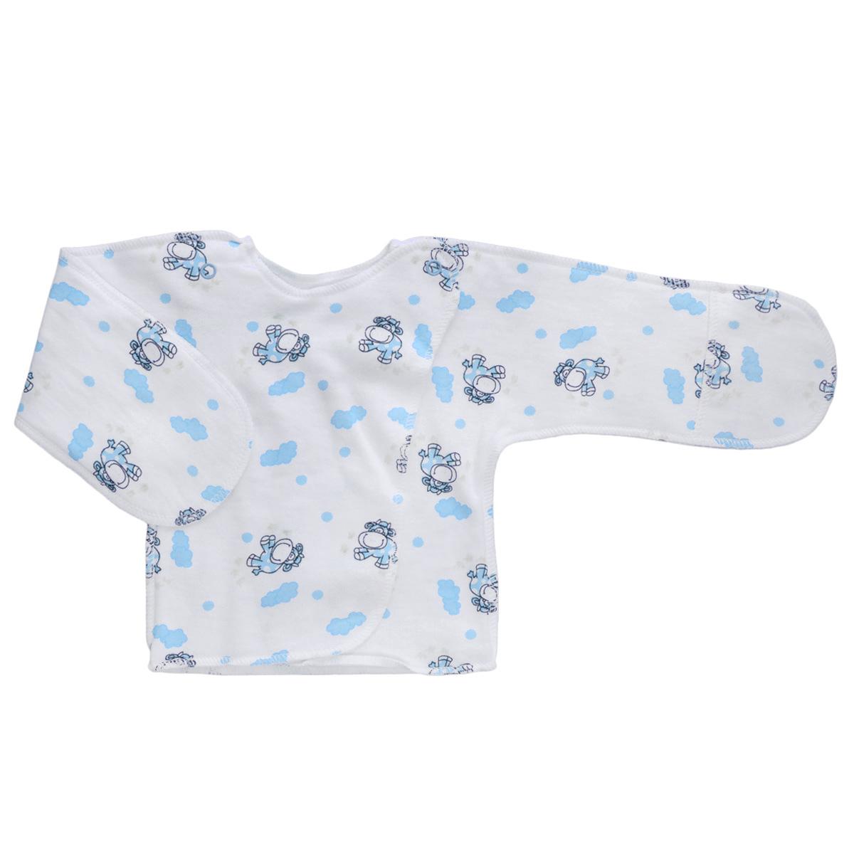 Распашонка5023Распашонка с закрытыми ручками Трон-плюс послужит идеальным дополнением к гардеробу младенца. Распашонка, выполненная швами наружу, изготовлена из футера - натурального хлопка, благодаря чему она необычайно мягкая, легкая и теплая, не раздражает нежную кожу ребенка и хорошо вентилируется, а эластичные швы приятны телу младенца и не препятствуют его движениям. Распашонка с запахом, застегивается при помощи двух кнопок на плечах, которые позволяют без труда переодеть ребенка. Благодаря рукавичкам ребенок не поцарапает себя.