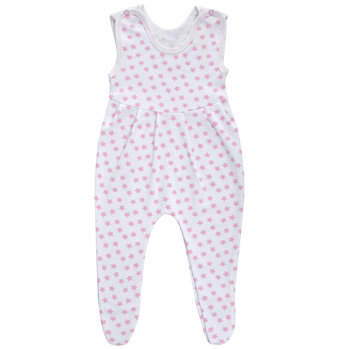 Ползунки с грудкой. 52215221Ползунки с грудкой Трон-плюс - очень удобный и практичный вид одежды для малышей. Ползунки выполнены из футера - натурального хлопка, благодаря чему они необычайно мягкие, тепленькие и приятные на ощупь, не раздражают нежную кожу ребенка и хорошо вентилируются, а эластичные швы приятны телу младенца и не препятствуют его движениям. Ползунки с закрытыми ножками, застегивающиеся сверху на две кнопочки, идеально подойдут вашему ребенку, обеспечивая ему наибольший комфорт, подходят для ношения с подгузником и без него. От линии груди заложены складочки, придающие изделию оригинальность. Ползунки с грудкой полностью соответствуют особенностям жизни младенца в ранний период, не стесняя и не ограничивая его в движениях!