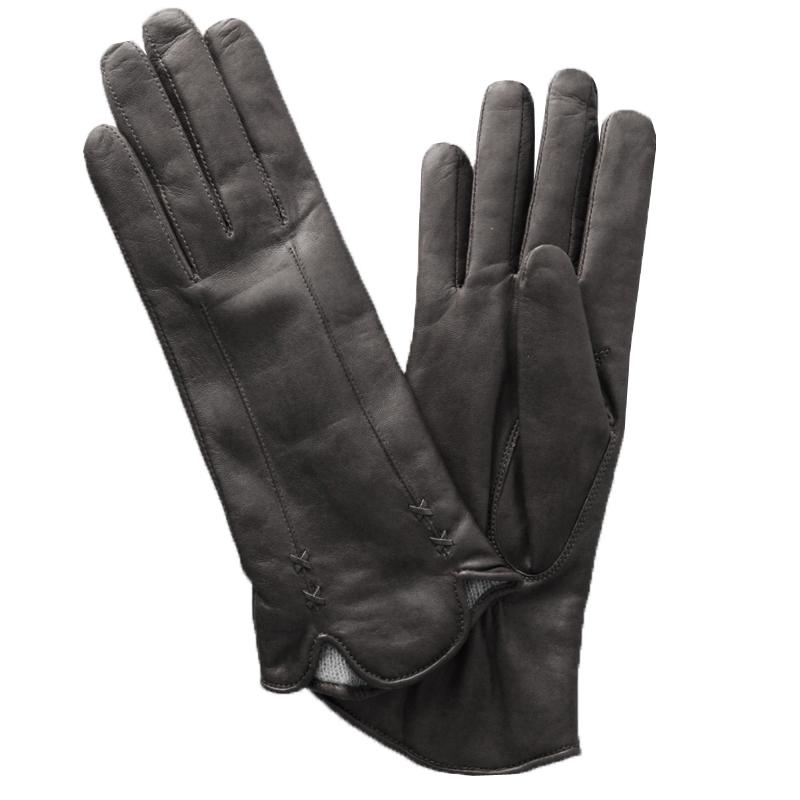 Перчатки женские модель 487. Э-2L на шерстиЭ-2L_487Стильные женские перчатки Edmins не только защитят ваши руки от холода, но и станут великолепным украшением. Перчатки выполнены из натуральной кожи ягненка, подкладка - из шерсти. Манжеты с двумя разрезами оформлены декоративными стежками. В настоящее время перчатки являются неотъемлемой принадлежностью одежды, вместе с этим аксессуаром вы обретаете женственность и элегантность. Перчатки станут завершающим и подчеркивающим элементом вашего стиля и неповторимости.