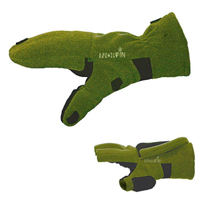 Перчатки-варежки 73701103Перчатки-варежки Norfin 73 защитят ваши руки. Они хорошо сохраняют тепло, мягкие, идеально сидят на руке. Перчатки-варежки выполнены из флиса. Изделие представляет собой перчатки без пальцев, к внешней стороне которых крепится капюшон, накинув его на пальцы, перчатки превращаются в варежки. На большом пальце имеется отверстие. Капюшон фиксируется на перчатке при помощи липучки.