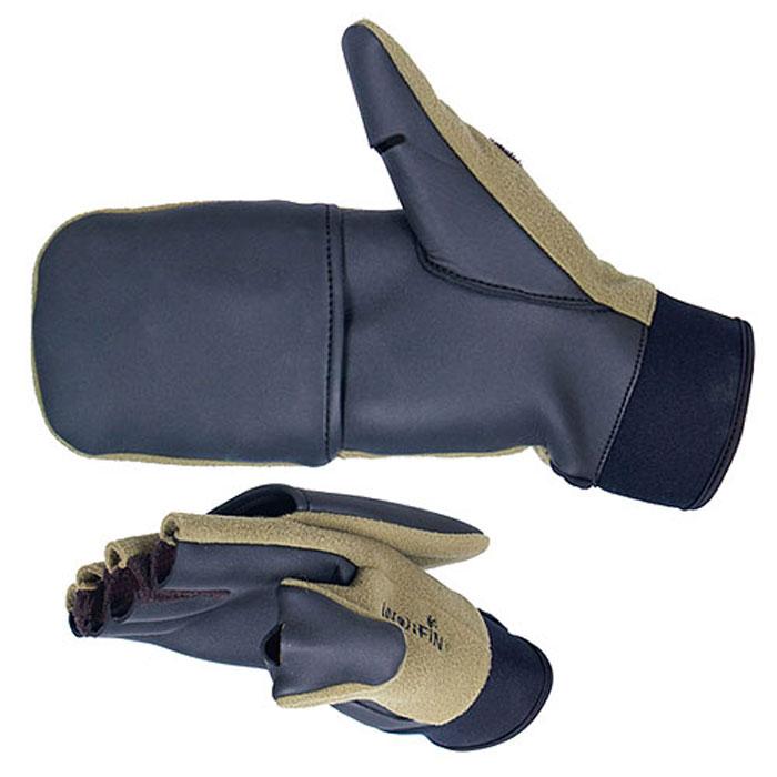 Перчатки-варежки Windproof703056Перчатки-варежки Norfin Windproof защитят ваши руки. Они хорошо сохраняют тепло, мягкие, идеально сидят на руке. Перчатки-варежки в области ладони и с внутренней стороны большого пальца выполнены из водоотталкивающего материала, верх выполнен из флиса. Изделие представляет собой перчатки без пальцев, к внешней стороне которых крепится капюшон, накинув его на пальцы, перчатки превращаются в варежки. На большом пальце имеется отверстие. Капюшон фиксируется на перчатке при помощи липучки.