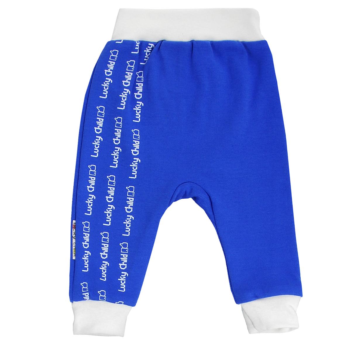 Штанишки на широком поясе для мальчика . 9-119-11Удобные штанишки для мальчика Lucky Child на широком поясе послужат идеальным дополнением к гардеробу вашего малыша. Штанишки, изготовленные из натурального хлопка, необычайно мягкие и легкие, не раздражают нежную кожу ребенка и хорошо вентилируются, а эластичные швы приятны телу младенца и не препятствуют его движениям. Штанишки благодаря мягкому эластичному поясу не сдавливают животик ребенка и не сползают, обеспечивая ему наибольший комфорт, идеально подходят для ношения с подгузником и без него. Снизу брючины дополнены широкими трикотажными манжетами, не пережимающими ножку. Спереди они оформлены оригинальным принтом в виде логотипа бренда. Штанишки очень удобный и практичный вид одежды для малышей, которые уже немного подросли. Отлично сочетаются с футболками, кофточками и боди. В таких штанишках вашему малышу будет уютно и комфортно!