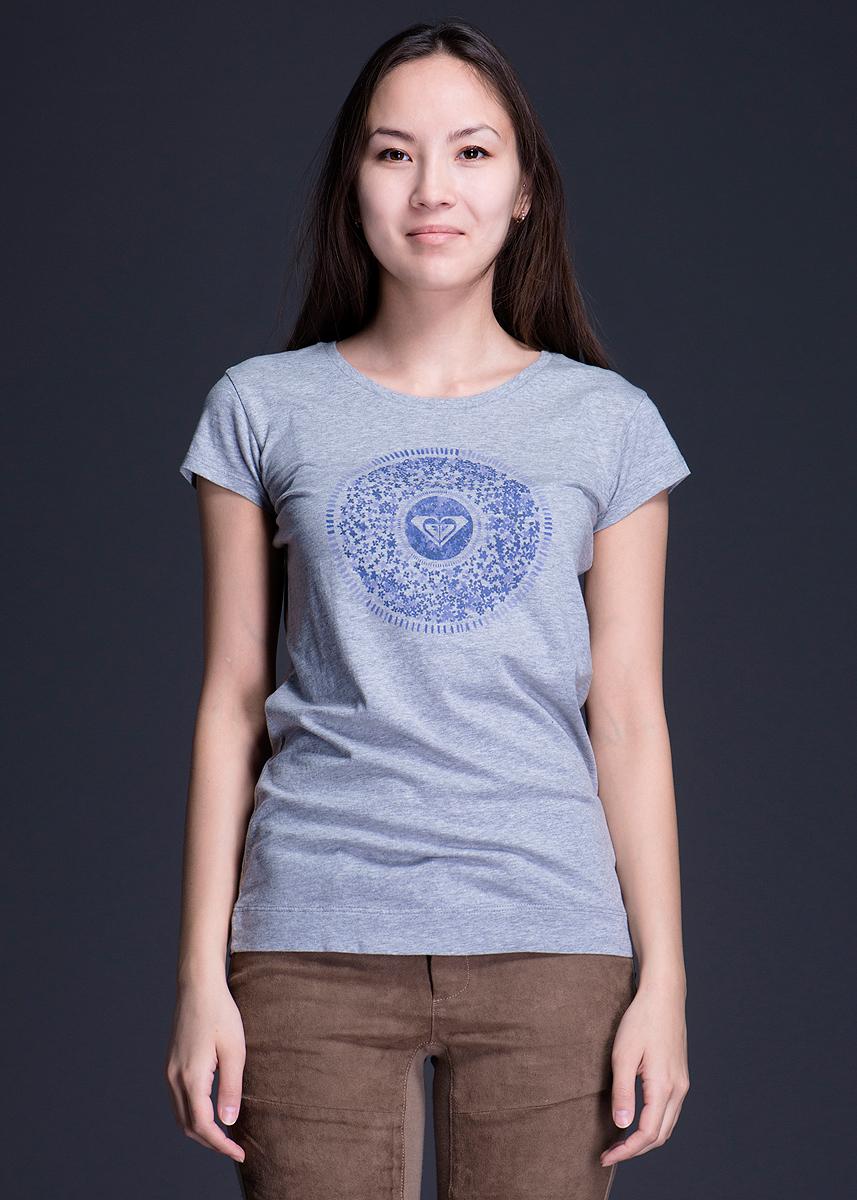 Футболка женская. WTWJE652WTWJE652Стильная женская футболка Roxy, выполненная из высококачественного материала, обладает высокой теплопроводностью, воздухопроницаемостью и гигроскопичностью, позволяет коже дышать. Модель с короткими рукавами и круглым вырезом горловины оформлена оригинальным принтом. Идеальный вариант для тех, кто ценит комфорт и качество.