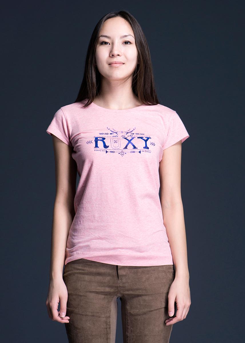 Футболка женская. WTWJE642WTWJE642-MEN0Стильная женская футболка Roxy, выполненная из высококачественного материала, обладает высокой теплопроводностью, воздухопроницаемостью и гигроскопичностью, позволяет коже дышать. Модель с короткими рукавами и круглым вырезом горловины оформлена оригинальным принтом. Идеальный вариант для тех, кто ценит комфорт и качество.