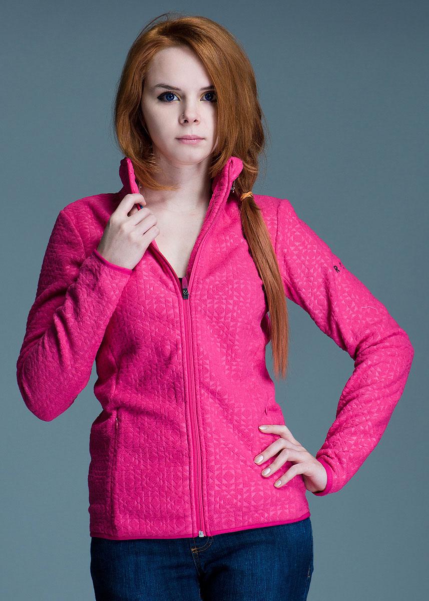 Куртка женская HARMONY. WTWPO203WTWPO203Стильная женская куртка Roxy из мягкого флиса создаст для вас комфорт и свободу движений. Замечательная куртка с длинными рукавами и воротником-стойкой дополнена двумя карманами, застегивающимися на потайные молнии. Модель застегивается на застежку-молнию. Эта куртка - идеальный вариант для создания образа в стиле Casual.