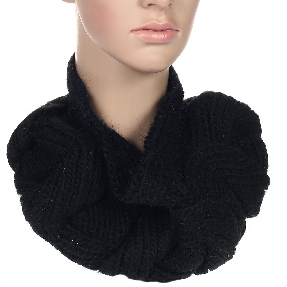 Шарф женский. 93004379300437Стильный круглый шарф Venera, выполненный из акрилика, шерсти и альпаки, создан подчеркнуть ваш неординарный вкус и согреть вас в прохладное время года. Шарф подарит вам уют и добавит вашему образу романтичности.