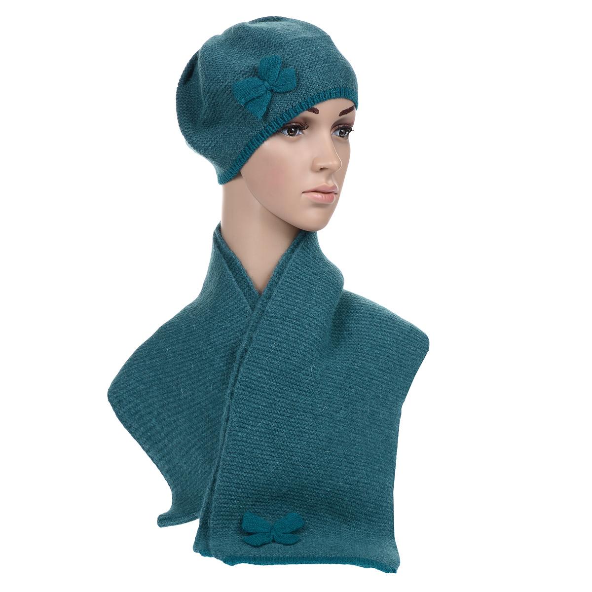 Комплект женский: берет, шарф. 99020179902017-05Каждой женщине хочется иметь теплый красивый комплект, который отлично подойдет к верхней одежде и подчеркнет индивидуальность. Отличное решение - комплект из берета и шарфа, выполненных из шерсти. Стильный дизайн и приятный на ощупь материал подарят вам истинное наслаждение. Комплект Venera добавит вашему образу женственности и подарят чувство комфорта в холодную погоду.