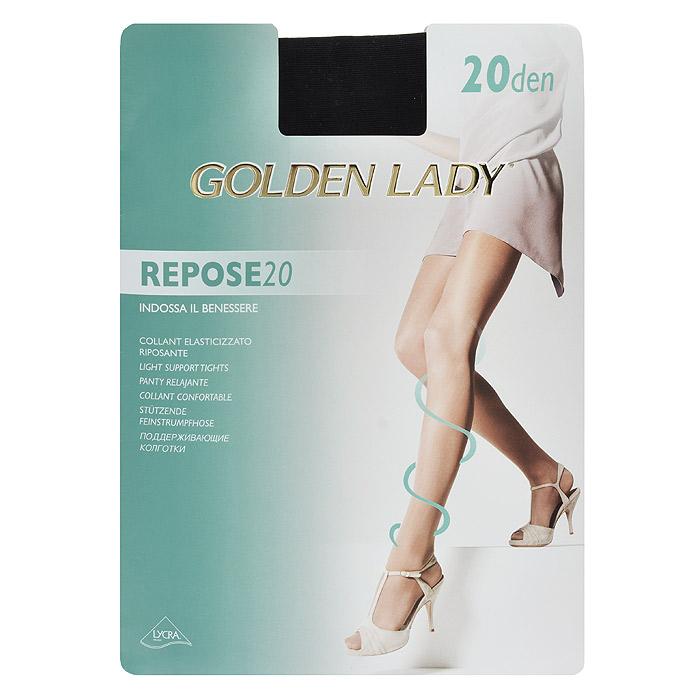 Колготки женские Repose 20Repose 20_DainoТонкие эластичные колготки Golden Lady Repose 20 с поддерживающим эффектом, удобными швами и гигиеничной ластовицей.