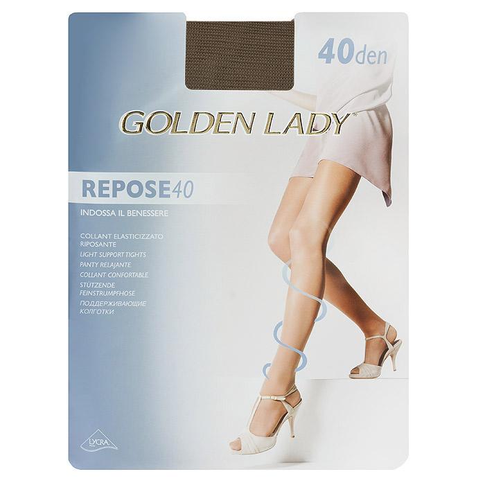 Колготки женские Repose 40Repose 40_DainoЭластичные колготки Golden Lady Repose 40 с поддерживающим эффектом, удобными швами и гигиеничной ластовицей.