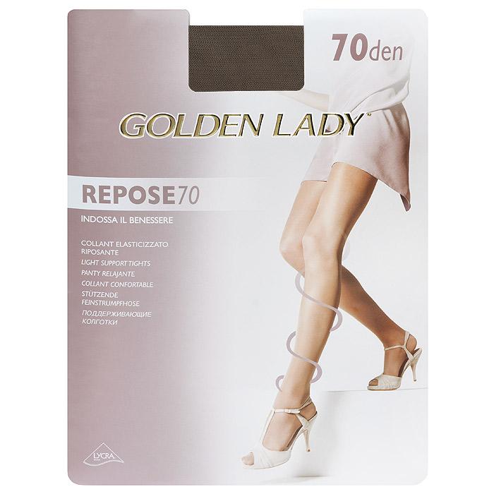 Колготки женские Repose 70Repose 70_DainoЭластичные колготки Golden Lady Repose 70 с поддерживающим эффектом, удобными швами и гигиеничной ластовицей.