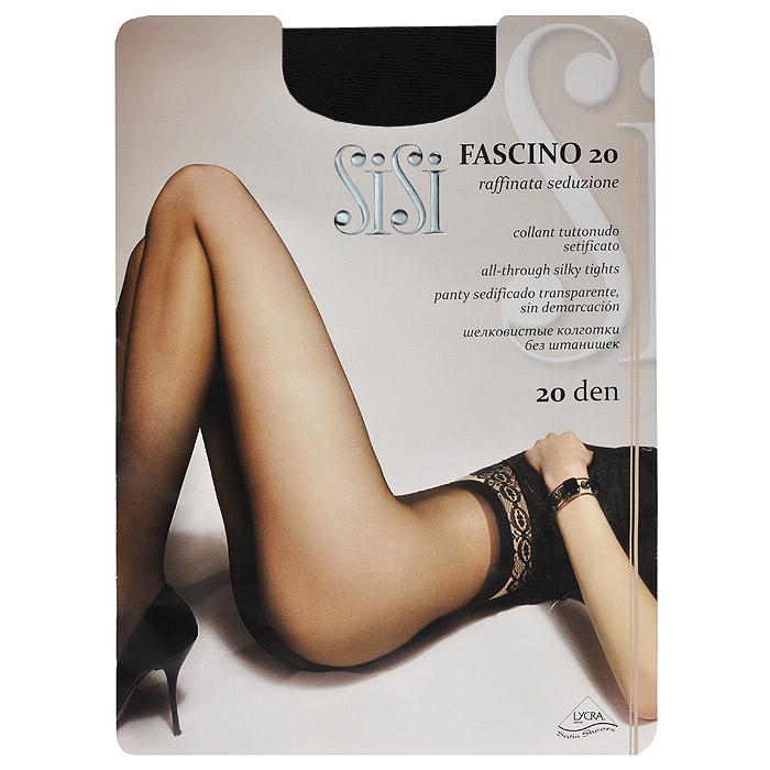 Колготки женские Fascino 20Fascino 20 NaturelleЭластичные прозрачные однородные колготки Sisi Fascino 20 с удобными швами, без штанишек, гигиеничной ластовицей и невидимым носком. Размер XL с задней вставкой.