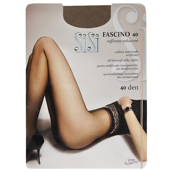 Колготки женские Fascino 40Fascino 40_DainoЭластичные прозрачные однородные колготки Sisi Fascino 40 с удобными швами, без штанишек, гигиеничной ластовицей и невидимым носком. Размер XL с задней вставкой.