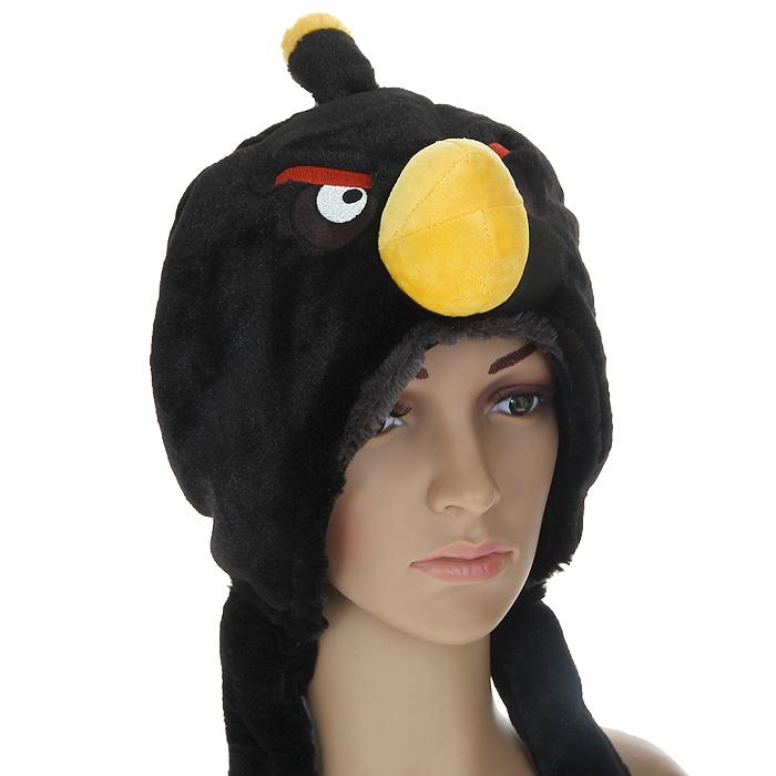 Шапка детская. 9313793136Шапка детская Angry Birds облегает головку ребенка, надежно защищая ушки, лобик и щечки от продуваний. Выполненная из 100% полиэстера, она необычайно легкая и приятная на ощупь. Подкладка также выполнена из 100% полиэстера. Шапочка выполнена из искусственного меха в виде мордочки птички - персонажа знаменитой видео-игры Angry Birds. На макушке она декорирована хохолком. Шапочка дополнена широкими и длинными завязками, с помощью которых ее можно зафиксировать под подбородком. Оригинальный дизайн и яркая расцветка делают эту шапочку модным и стильным предметом детского гардероба. В ней ваш непоседа будет чувствовать себя уютно и комфортно и всегда будет в центре внимания!