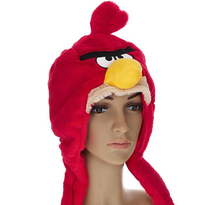 Шапка детская. 9313693136Шапка детская Angry Birds облегает головку ребенка, надежно защищая ушки, лобик и щечки от продуваний. Выполненная из 100% полиэстера, она необычайно легкая и приятная на ощупь. Подкладка также выполнена из 100% полиэстера. Шапочка выполнена из искусственного меха в виде мордочки птички - персонажа знаменитой видео-игры Angry Birds. На макушке она декорирована хохолком. Шапочка дополнена широкими и длинными завязками, с помощью которых ее можно зафиксировать под подбородком. Оригинальный дизайн и яркая расцветка делают эту шапочку модным и стильным предметом детского гардероба. В ней ваш непоседа будет чувствовать себя уютно и комфортно и всегда будет в центре внимания!
