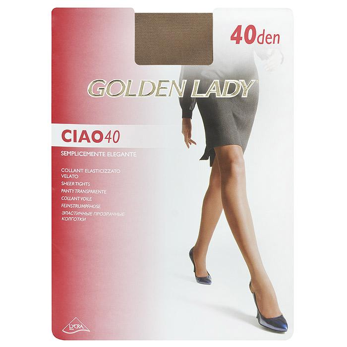 Колготки женские Ciao 40Ciao 40Эластичные прозрачные колготки Golden Lady Ciao 40 с удобными швами.