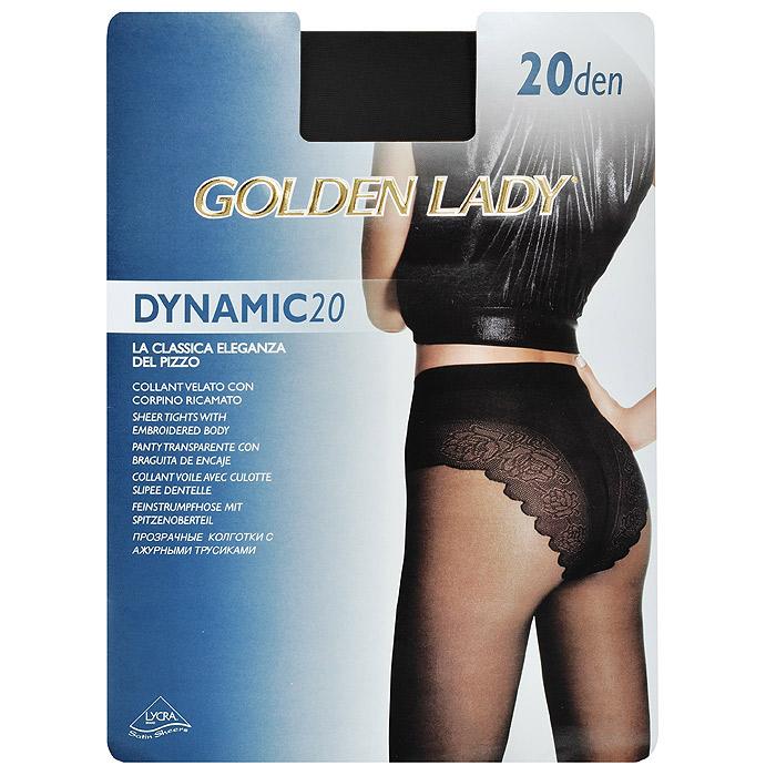 Колготки женские Dinamic 20Dinamic 20_DainoТонкие прозрачные колготки Golden Lady Dinamic 20 с ажурными трусиками и удобными швами. Невидимый носок.