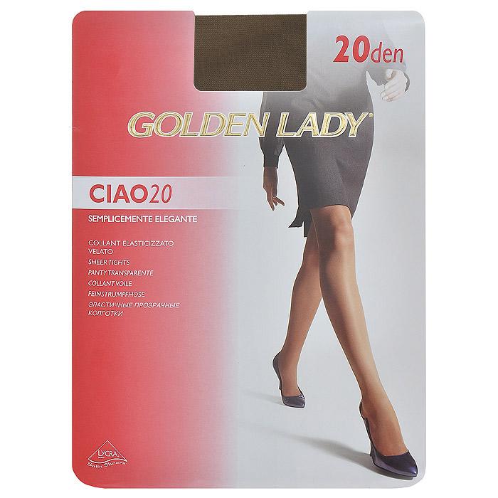 Колготки женские Ciao 20Ciao 20 XLТонкие эластичные прозрачные колготки Golden Lady Ciao 20 с удобными швами.