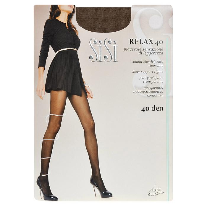 Колготки женские Relax 40Relax 40_NaturelleПрозрачные тонкие поддерживающие колготки Sisi Relax 40 с лайкрой, формованные, с усиленным носком и ластовицей, с распределенным по ноге давлением.