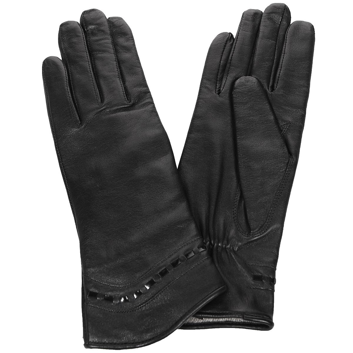 ПерчаткиЭ-2L_490Стильные женские перчатки Edmins не только защитят ваши руки от холода, но и станут великолепным украшением. Перчатки выполнены из натуральной кожи ягненка, подкладка - из шерсти. Манжеты оформлены отделкой из лаковой кожи. В настоящее время перчатки являются неотъемлемой принадлежностью одежды, вместе с этим аксессуаром вы обретаете женственность и элегантность. Перчатки станут завершающим и подчеркивающим элементом вашего стиля и неповторимости.