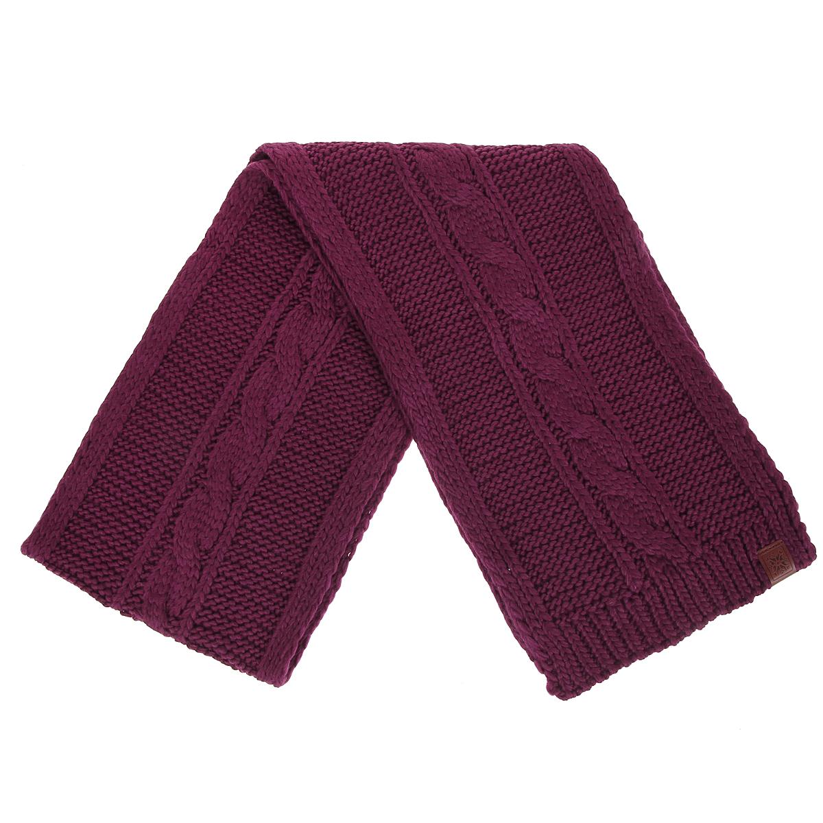 Шарф43622Вязаный шарф Marhatter согреет в холодное время года, а также станет изысканным аксессуаром, который призван подчеркнуть индивидуальность и стиль каждой женщины. Шарф изготовлен из шерсти и акрила, благодаря чему он максимально сохраняет тепло. Шарф хорошо тянется и устойчив к сминанию. Шарф украшен вязаным узором. Этот модный аксессуар женского гардероба гармонично дополнит образ современной женщины, следящей за своим имиджем и стремящейся всегда оставаться стильной и элегантной.
