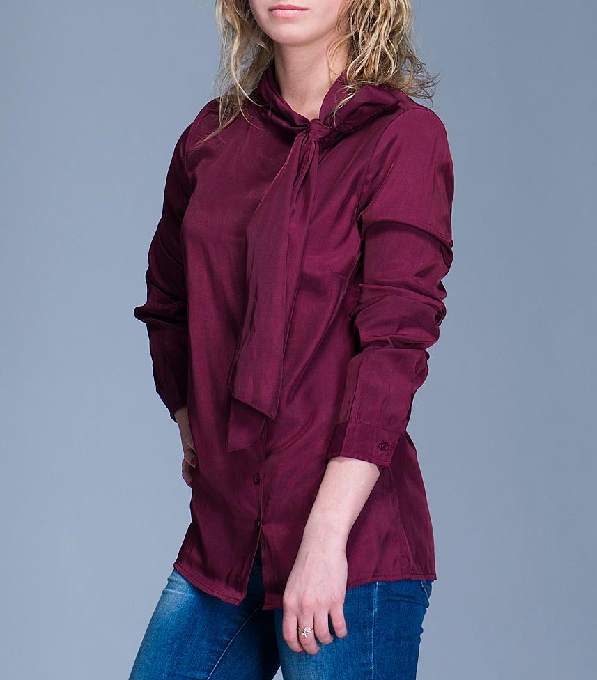 Блуза женская. 1015028110150281Очаровательная блуза Broadway, выполненная из высококачественного материала, обладает воздухопроницаемостью и гигроскопичностью, позволяет коже дышать. Модель полуоблегающего кроя, с длинными рукавами и воротником переходящим в бант застегивается на пуговицы. Эта блуза отличный вариант для вашего гардероба и для создания эффектного образа.