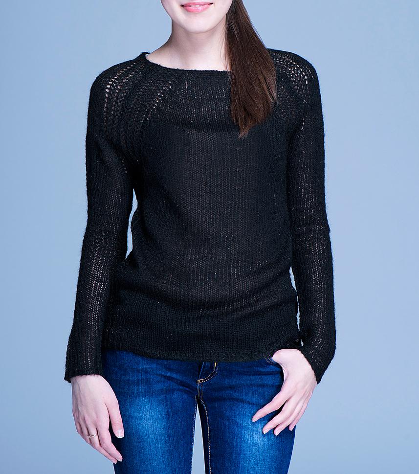 Пуловер женский. 6010083860100838Оригинальный пуловер Broadway - прекрасный вариант как для офисного дня, так и для воскресной прогулки. Модель с круглым вырезом горловины и длинными рукавами, связанными регланом, декорирована люрексом. В таком пуловере вам будет комфортно и тепло. Такая лаконичная модель отлично дополнит ваш гардероб.