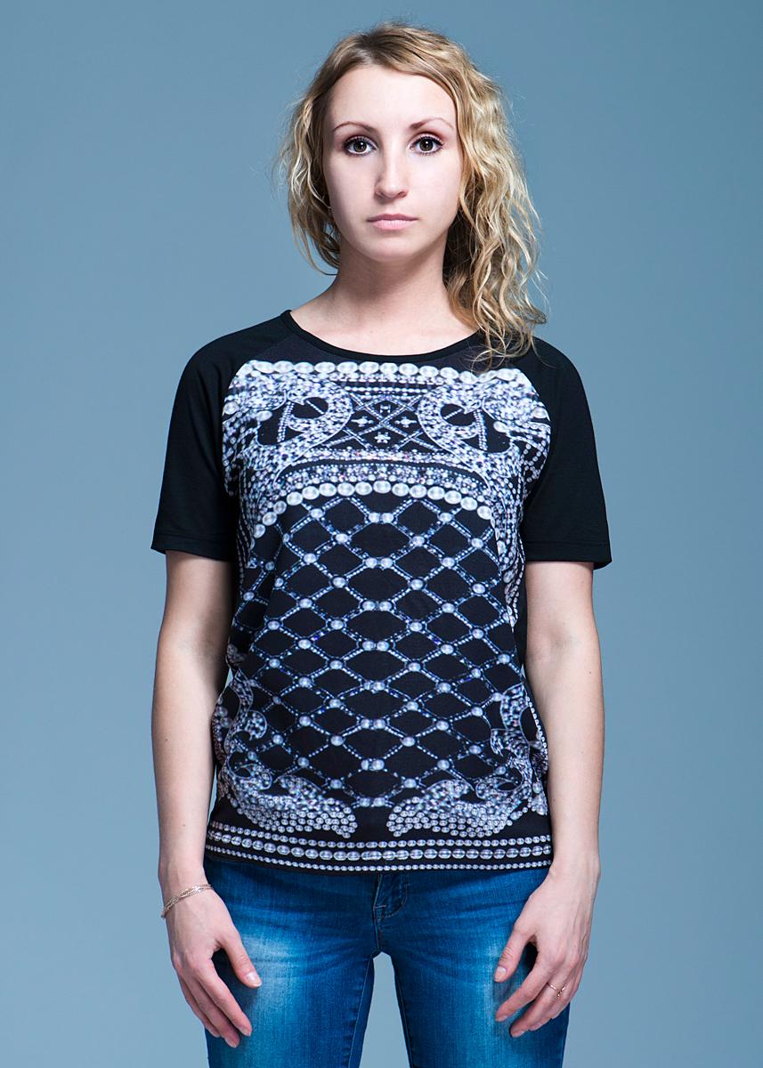10097910Стильная женская футболка Vero Moda, выполненная из высококачественного материала, идеальный вариант для создания образа в стиле Casual. Футболка прямого кроя с короткими рукавами и круглым вырезом горловины будет отлично на вас смотреться. Модель оформлена оригинальным рисунком. Такая футболка будет дарить вам комфорт в течение всего дня и послужит замечательным дополнением к вашему гардеробу.