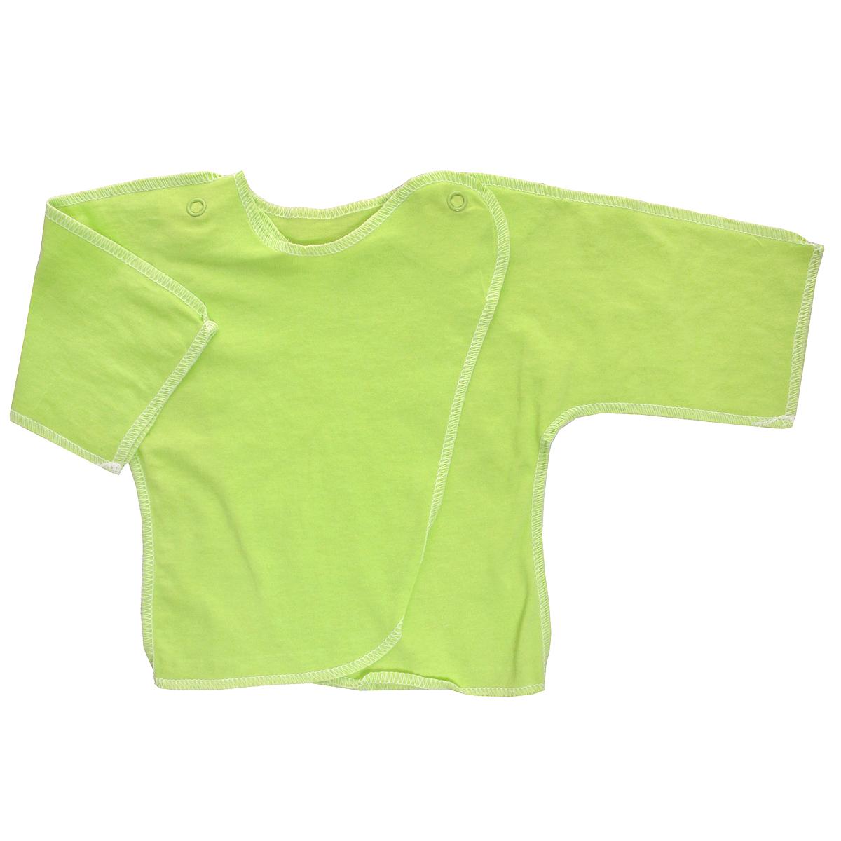 Распашонка5002Распашонка для мальчика Трон-плюс послужит идеальным дополнением к гардеробу вашего малыша. Распашонка изготовлена из натурального хлопка, благодаря чему она необычайно мягкая и легкая, не раздражает нежную кожу ребенка и хорошо вентилируется, а эластичные швы приятны телу малыша и не препятствуют его движениям. Распашонка с запахом, застегивается при помощи двух кнопок на плечах, которые позволяют без труда переодеть ребенка.