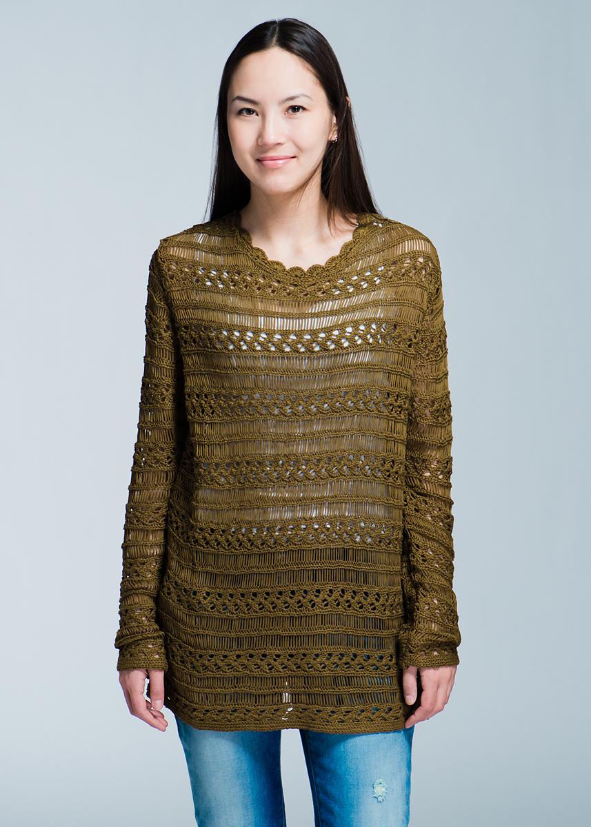 Джемпер84943900310Стильный женский джемпер Olive Ribbon Sweater, выполненный из высококачественного материала, будет отлично на вас смотреться. Модель свободного кроя с длинными рукавами и вырезом горловины «лодочка». Джемпер оформлен оригинальной вязкой. Классический покрой, лаконичный дизайн, безукоризненное качество. Идеальный вариант для тех, кто ценит комфорт и качество.