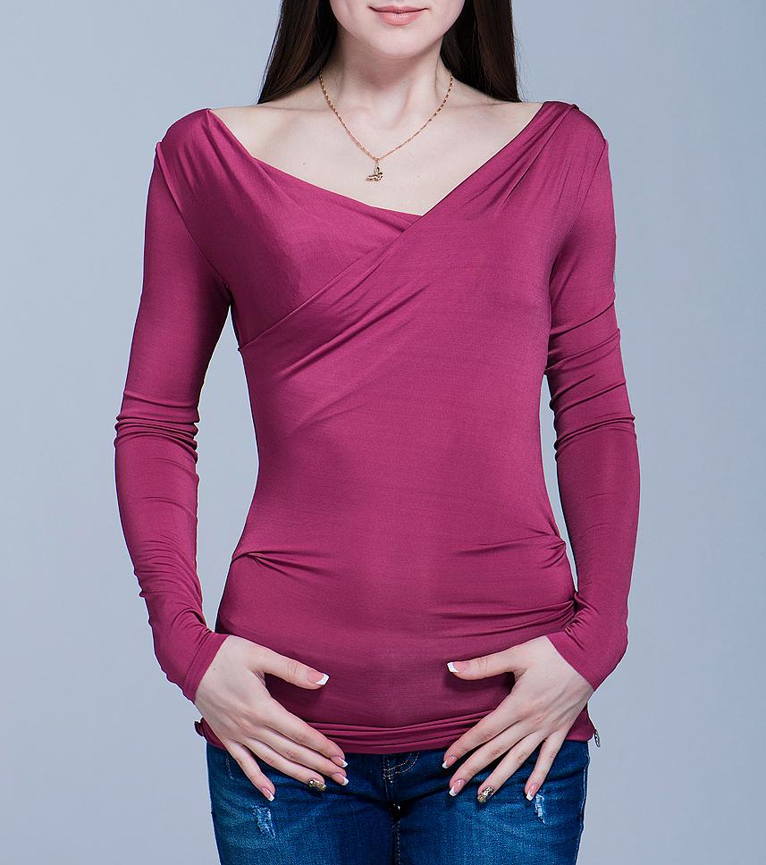Блуза женская. 70DML0251J96270DML0251J962Стильная блуза Met выполнена из эластичного материала, приятного на ощупь. Модель с длинными рукавами и ассиметричным вырезом горловины с эффектом запаха, на талии дополнена защипом, создающим красивую драпировку. В такой блузе вы будете выглядеть эффектно и модно. Ваш яркий образ не останется незамеченным.