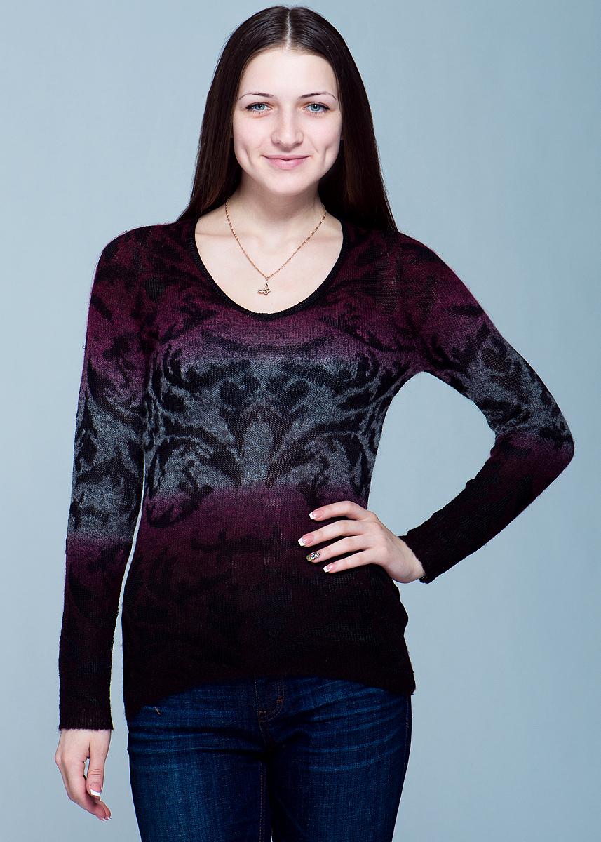 Пуловер женский. 1100126211001262Стильный женский пуловер не сковывает движения, обеспечивая наибольший комфорт. Модель с длинными рукавами, с круглым вырезом горловины выполнена из ниток разной текстуры. Этот пуловер - практичная вещь, которая, несомненно, впишется в ваш гардероб, в нем вы будете чувствовать себя уютно и комфортно.