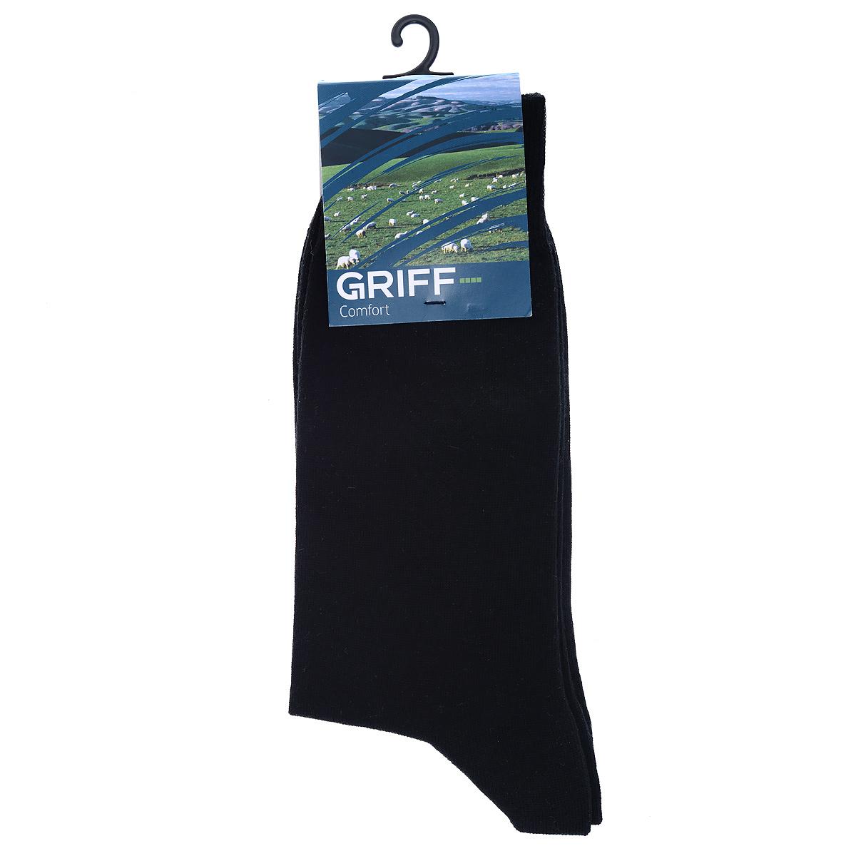 НоскиМ2Мужские носки Griff Comfort с удлиненным паголенком изготовлены из высококачественного волокна - хлопок SeaCell. Комфортная широкая резинка пресс-контроль не сдавливает и комфортно облегает ногу. Обладают повышенной прочностью, благодаря усиленной
