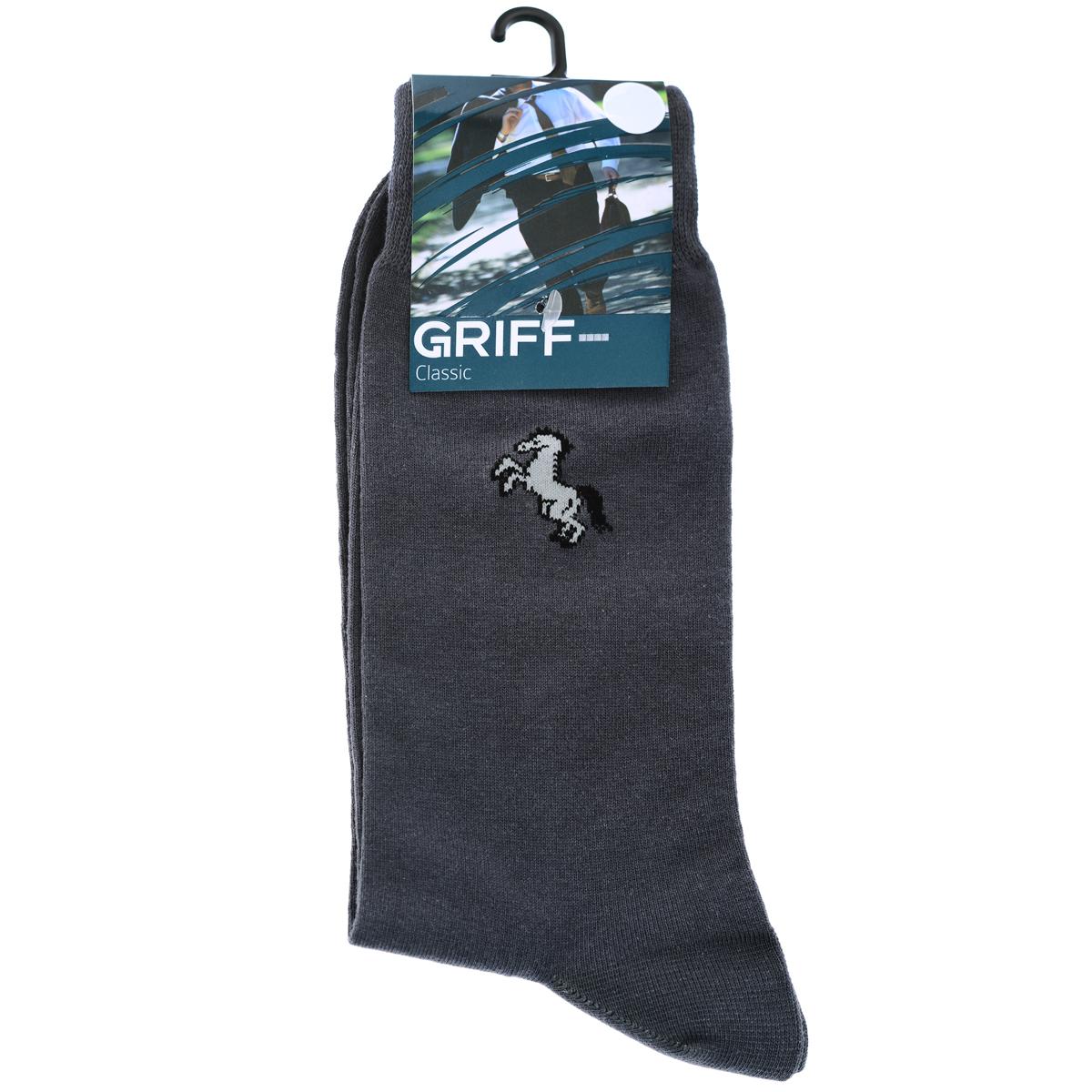 НоскиB1Мужские носки Griff Classic с удлиненным паголенком изготовлены из высококачественного сырья с добавлением полиамидных и эластановых волокон, которые обеспечивают великолепную посадку. Носки отличаются элегантным внешним видом. Удобная широкая резинка идеально облегает ногу и не пережимает сосуды, усиленные пятка и мысок повышают износоустойчивость носка.