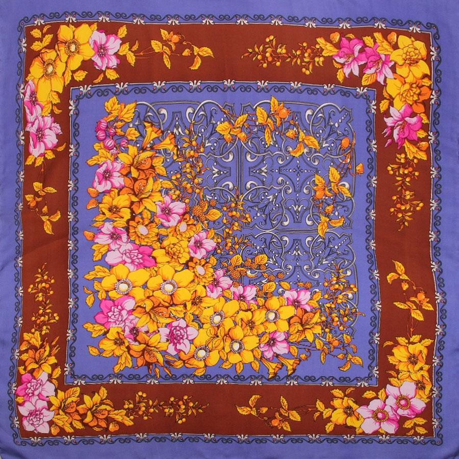 Платок1801429Нежный шелковый платок Venera станет нарядным аксессуаром, который призван подчеркнуть индивидуальность и очарование женщины. Оригинальный цветочный дизайн полотна добавит изысканности и привлечёт всеобщее внимание. Края платка качественно обработаны вручную. Этот модный аксессуар женского гардероба гармонично дополнит образ современной женщины, следящей за своим имиджем и стремящейся всегда оставаться стильной и элегантной.