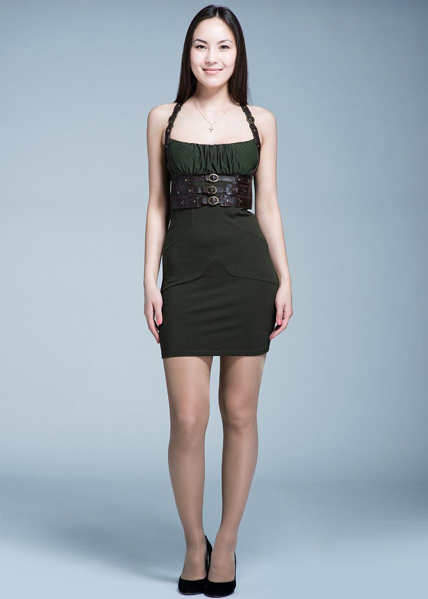 Платье10DVE0473J970Стильное платье Met выполнено из плотного трикотажа. Модель облегающего силуэта с завышенной линией талии, на тноких бретельках. Лиф выполнен из микросетки. Под грудью платье декорировано широким поясом из искусственной кожи. Платье на спинке застегивается на металлическую молнию. В таком мини платье вы будете выглядеть эффектно и очень привлекательно.