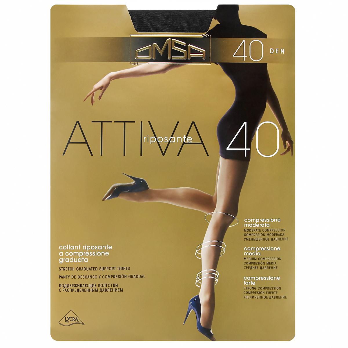 Колготки Attiva 40Attiva 40_BiancoКолготки шелковистые, с торсом в виде трусиков. Поддерживающий эффект с распределяемым давлением. Плоские швы. Ластовица. Сформированная ступня. Плотность: 40 ден.