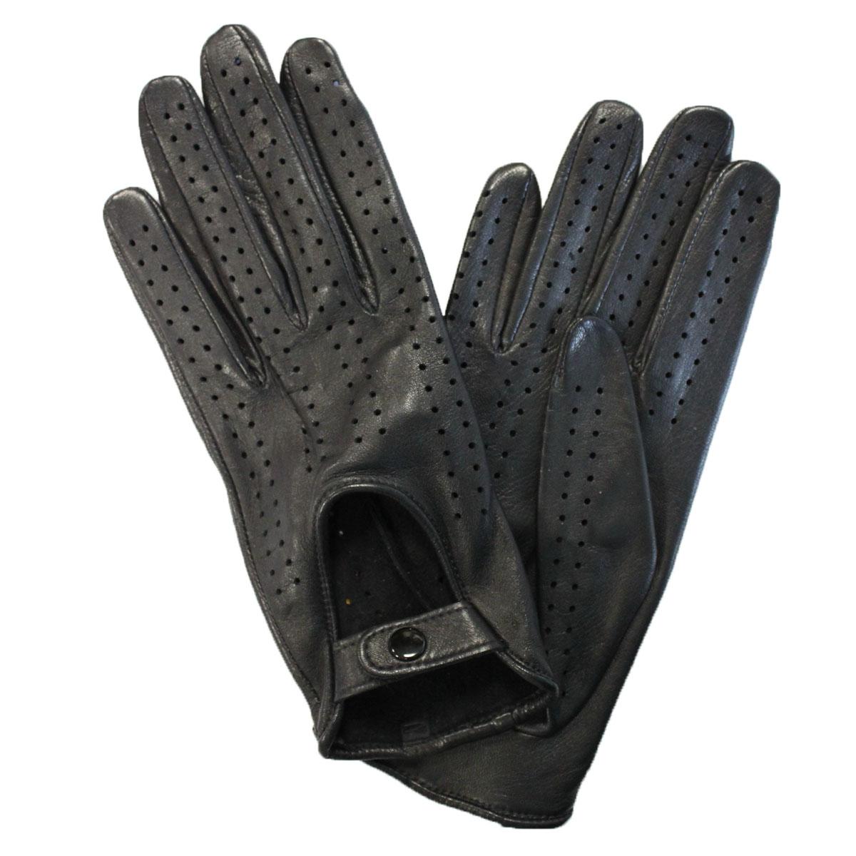 ПерчаткиЭ-20L_242Стильные перчатки Edmins без подкладки выполнены из мягкой и приятной на ощупь натуральной кожи ягненка. Такие перчатки станут отличным дополнением к вашему образу. На внешней стороне перчатки сделана выемка, которая застегивается на кнопку. Вся поверхность перчатки декорирована перфорацией.