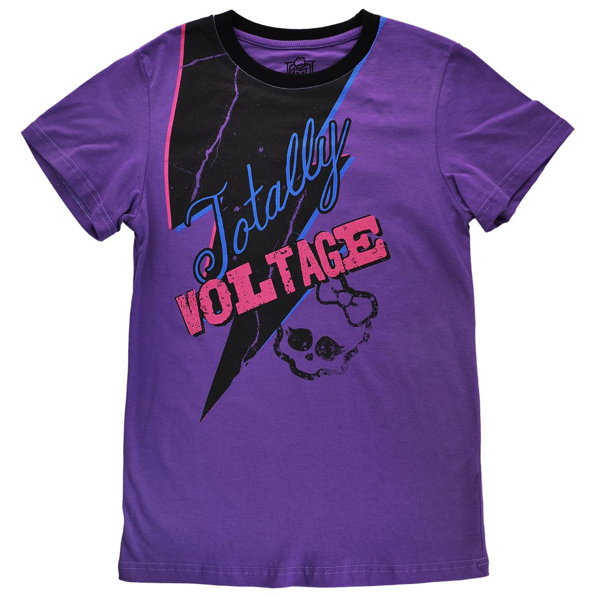 Футболка для девочки. MH-TSG46MH-TSG46-FIOСтильная футболка для девочки Monster High идеально подойдет вашей маленькой моднице. Изготовленная из натурального хлопка, она необычайно мягкая и приятная на ощупь, не сковывает движения ребенка и позволяет коже дышать, не раздражает даже самую нежную и чувствительную кожу, обеспечивая наибольший комфорт. Футболка свободного кроя с короткими рукавами и круглым вырезом горловины спереди оформлена оригинальным принтом. Вырез горловины дополнен трикотажной эластичной резинкой. Оригинальный современный дизайн и модная расцветка делают эту футболку модным и стильным предметом детского гардероба. В ней ваша дочурка будет чувствовать себя уютно и комфортно, и всегда будет в центре внимания!
