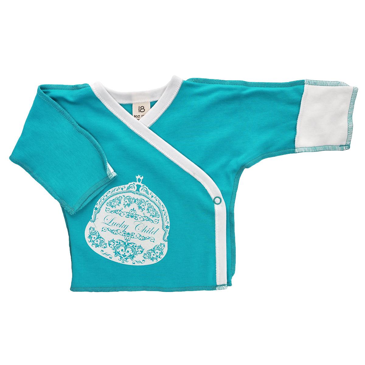 Распашонка Ретро. 14-714-7Распашонка для новорожденного Lucky Child Ретро с длинными рукавами послужит идеальным дополнением к гардеробу вашего малыша, обеспечивая ему наибольший комфорт. Распашонка изготовлена из натурального хлопка, благодаря чему она необычайно мягкая и легкая, не раздражает нежную кожу ребенка и хорошо вентилируется, а эластичные швы приятны телу малыша и не препятствуют его движениям. Распашонка-кимоно для новорожденного, оформленная принтом в ретро-стиле, выполнена швами наружу. Благодаря системе застежек-кнопок по принципу кимоно модель можно полностью расстегнуть. А благодаря рукавичкам ребенок не поцарапает себя. Распашонка полностью соответствует особенностям жизни ребенка в ранний период, не стесняя и не ограничивая его в движениях. В ней ваш малыш всегда будет в центре внимания.