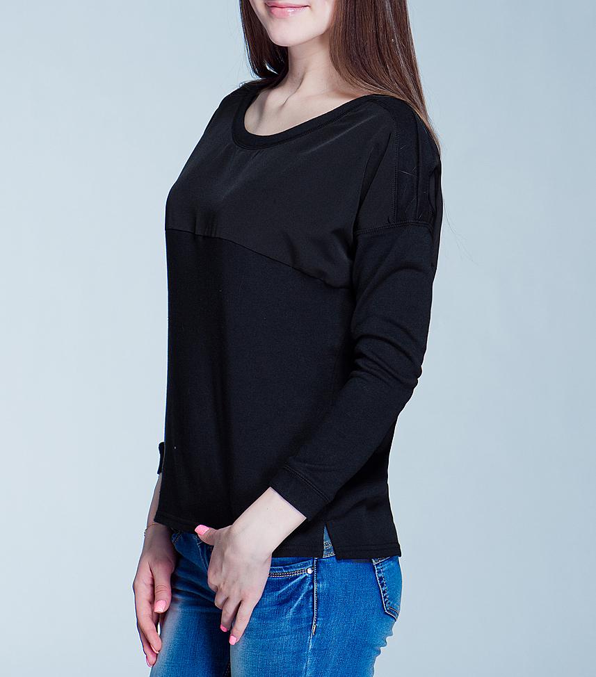 Джемпер женский. 1015109710151097 99D-black plainСтильный женский джемпер Broadway, выполненный из высококачественного материала, обладает высокой теплопроводностью, воздухопроницаемостью и гигроскопичностью, позволяет коже дышать. Модель свободного кроя с длинными рукавами и круглым вырезом горловины - идеальный вариант для создания образа в стиле Casual. Такая модель будет дарить вам комфорт в течение всего дня и послужит замечательным дополнением к вашему гардеробу.
