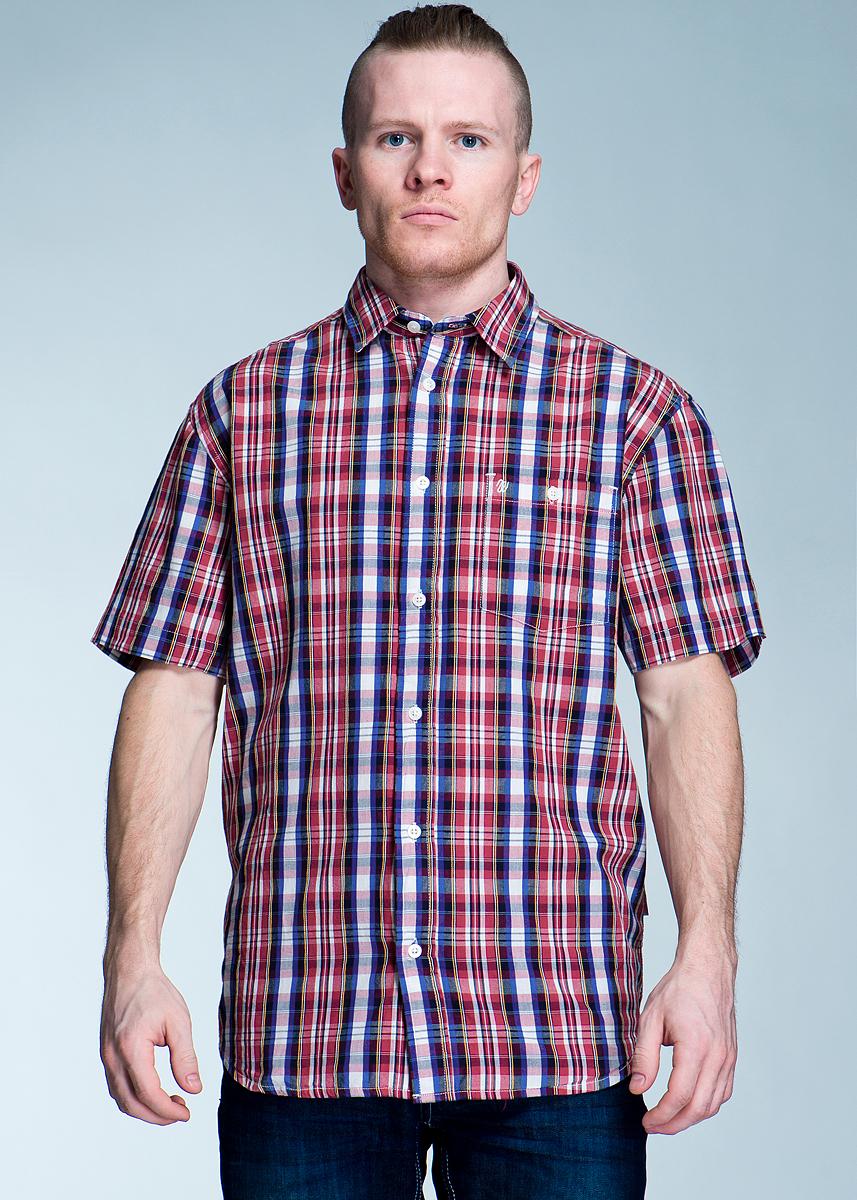 Рубашка мужская S/S 1PKT. W5723 - Wrangler - WranglerW5723M405Стильная рубашка с короткими рукавами, отложным воротником и застежкой на пуговицы. Рубашка оформлена ярким клетчатым принтом и накладным карманом на груди. Рубашка, выполненная из хлопка, обладает высокой теплопроводностью, воздухопроницаемостью и гигроскопичностью, позволяет коже дышать, тем самым обеспечивая наибольший комфорт при носке даже самым жарким летом.