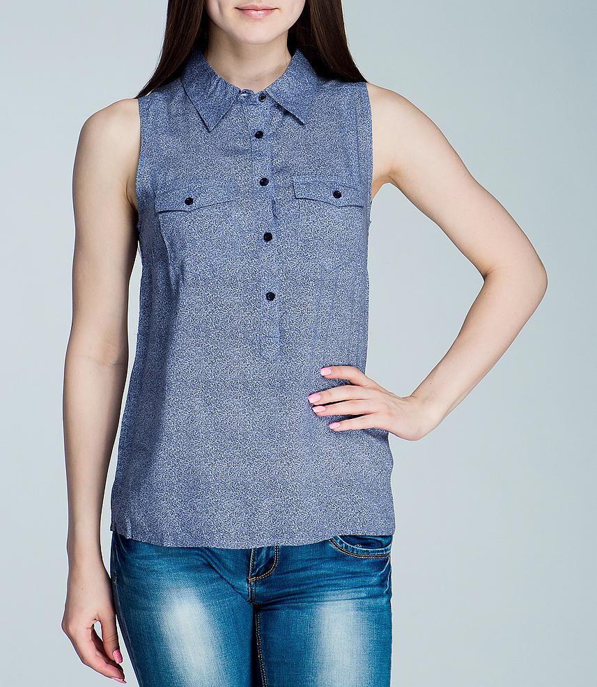 Блуза женская. L45FQP84L45FQP84Стильная женская блуза Lee, выполненная из высококачественного материала, обладает высокой теплопроводностью, воздухопроницаемостью, очень приятна к телу. Модель без рукавов, с отложным воротником - идеальный вариант для создания образа в стиле Casual. Блуза свободного кроя застегивается сверху на пуговицы. Изделие оформлено двумя накладными карманами с клапанами на пуговицах. Такая модель будет дарить вам комфорт в течение всего дня и послужит замечательным дополнением к вашему гардеробу.