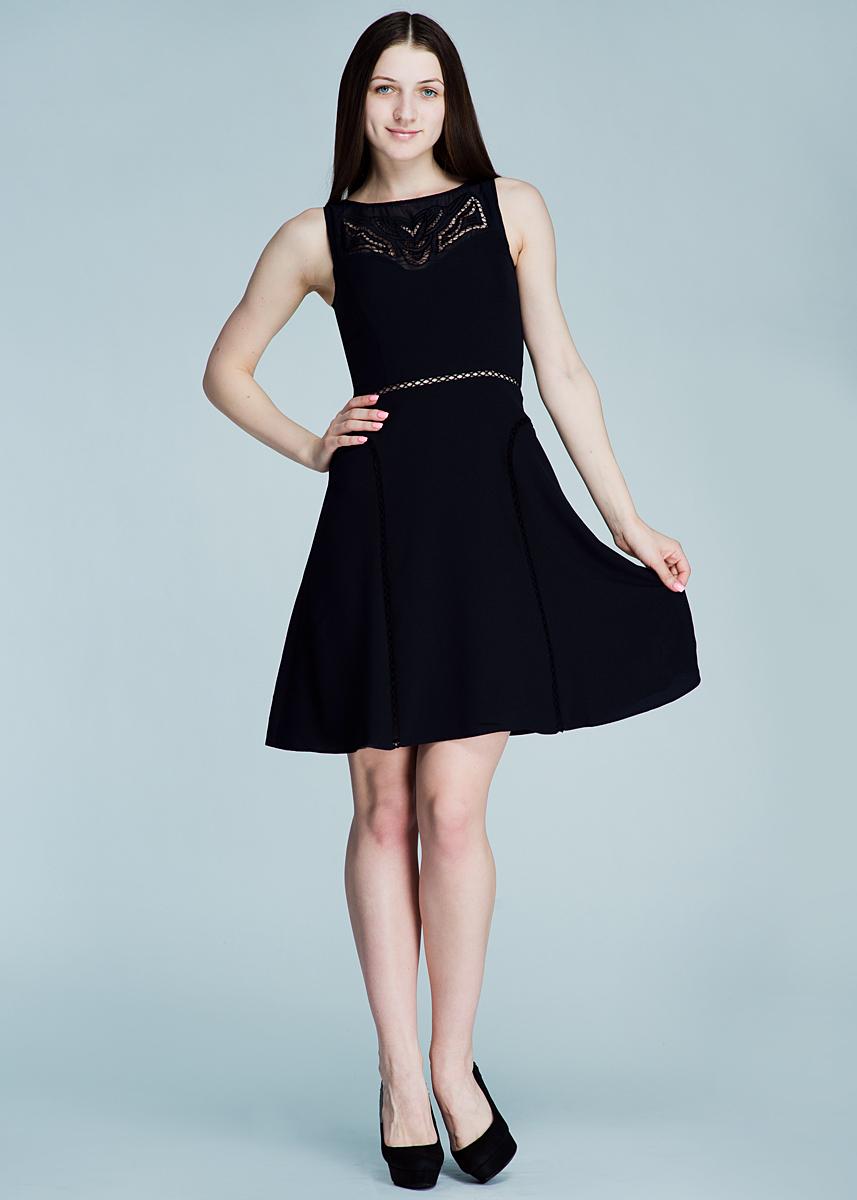 Платье. Dsl-117/055-412Dsl-117/055-412Симпатичное летнее платье SELA, выполненное из высококачественного материала, - находка для современной женщины, желающей выглядеть стильно и модно. Модель без рукавов, с круглым вырезом горловины сзади застегивается на потайную застежку-молнию. Платье украшено вышивкой. Такая модель, несомненно, вам понравится и послужит отличным дополнением к вашему гардеробу.