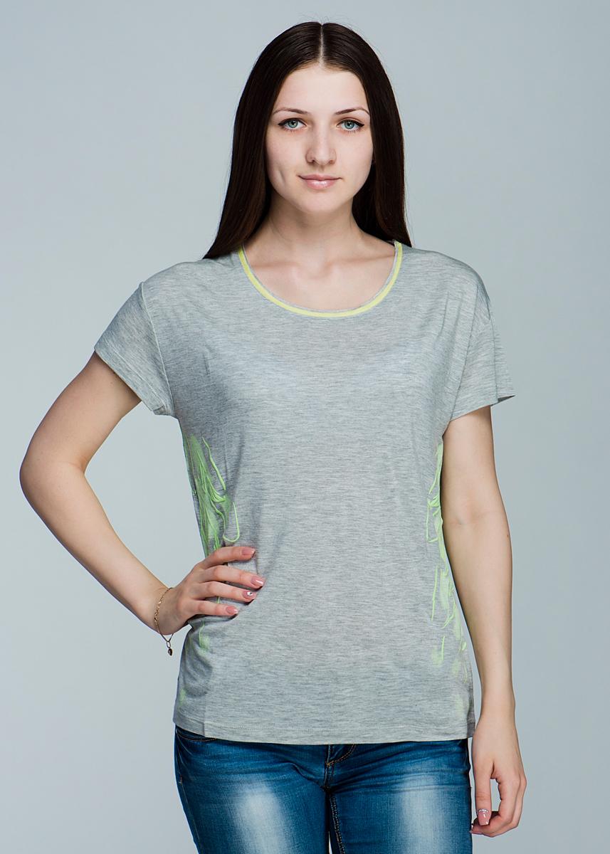 Футболка11101611Симпатичная женская футболка Olsen, выполненная из высококачественного материала, обладает высокой теплопроводностью, воздухопроницаемостью, очень приятна к телу. Модель прямого кроя, с короткими рукавами, круглым вырезом горловины - идеальный вариант для создания образа в стиле Casual. Футболка оформлена оригинальным принтом в виде крыльев. Лаконичный дизайн и совершенство стиля подчеркнут вашу индивидуальность.
