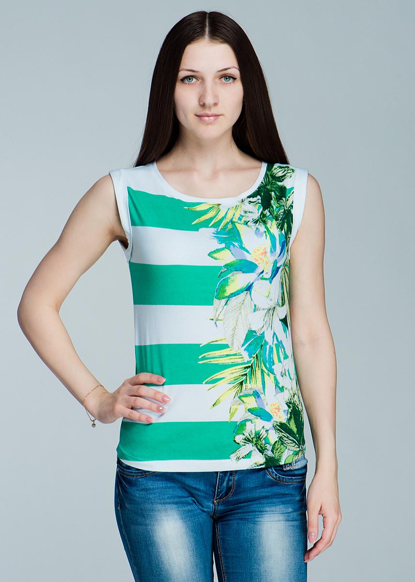 Топ женский. 1110163611101636Стильный женский топ Olsen, выполненный из высококачественного материала, - находка для современной женщины, желающей выглядеть стильно и модно. Модель без рукавов, с круглым вырезом горловины оформлена оригинальным цветочным принтом. Такая модель, несомненно, вам понравится и послужит отличным дополнением к вашему гардеробу.