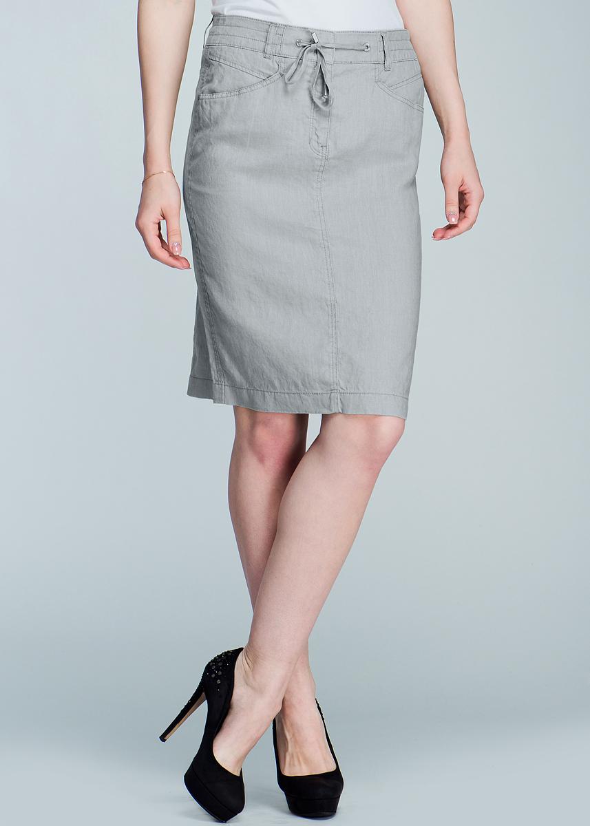 Юбка. 1600109516001095Модная юбка, изготовленная из натурального тонкого льна, подарит ощущение радости и комфорта. Модель средней длины спереди застегивается на потайную застежку-молнию и два крючочка. Юбка дополнена двумя прорезными карманами. Сзади для большего удобства сделан разрез, имеются шлевки для ремня и завязки. В этой юбке вы всегда будете чувствовать себя неотразимой.