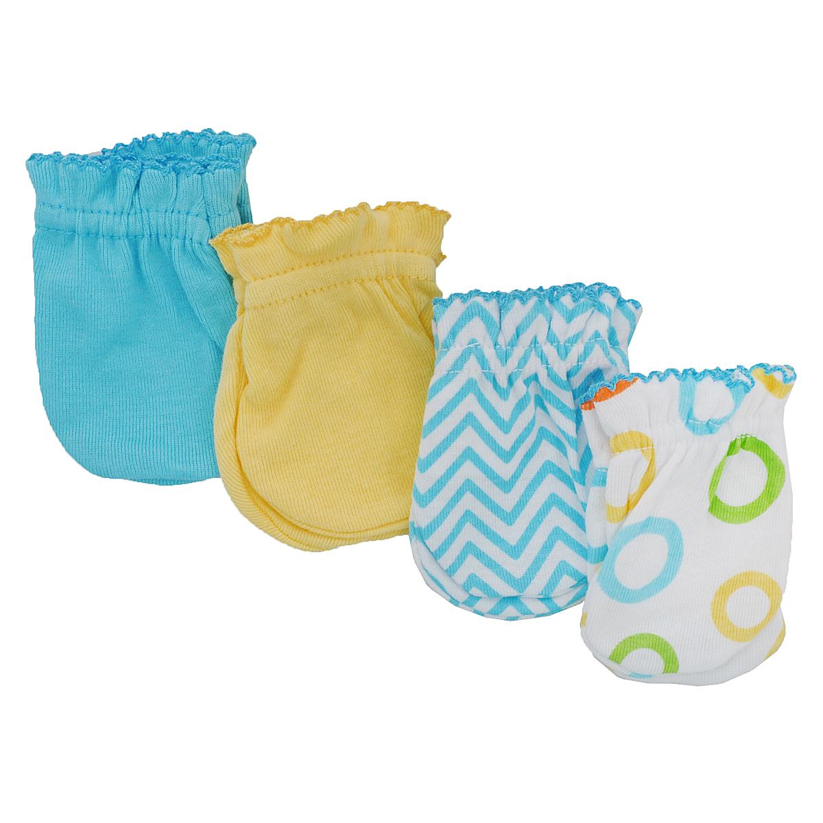 34711Рукавички для новорожденного Luvable Friends, изготовленные из натурального хлопка, идеально подойдут вашему малышу и обеспечат ему комфорт во время сна и бодрствования, предохраняя нежную кожу новорожденного от расцарапывания. В комплект входят четыре пары рукавичек.