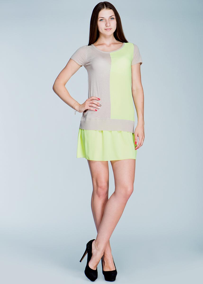 Платье. 2462V002462V00Эффектное платье Viriato, изготовленное струящегося материала, яркое и свободное, подарит вам нотку радости и ощущение легкости. Модель с круглым вырезом горловины и короткими рукавами, идеально подойдет для теплой погоды. В этом роскошном платье вы всегда будете в центре внимания.